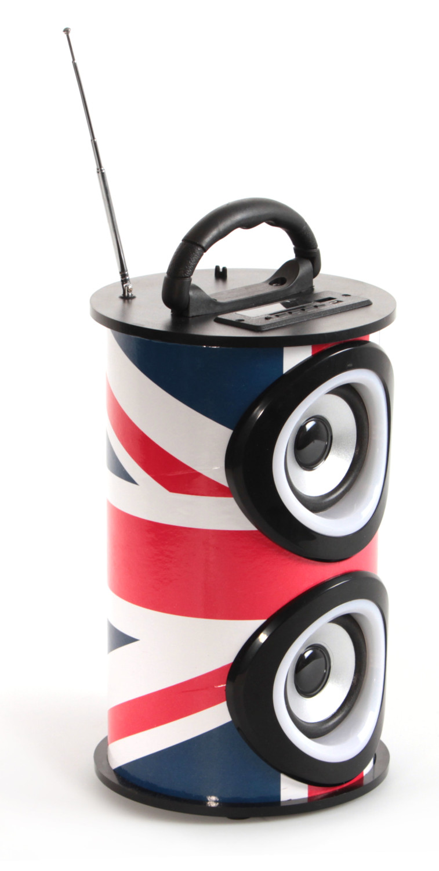 enceinte double hp sans fil teknofun design drapeau uk. Black Bedroom Furniture Sets. Home Design Ideas