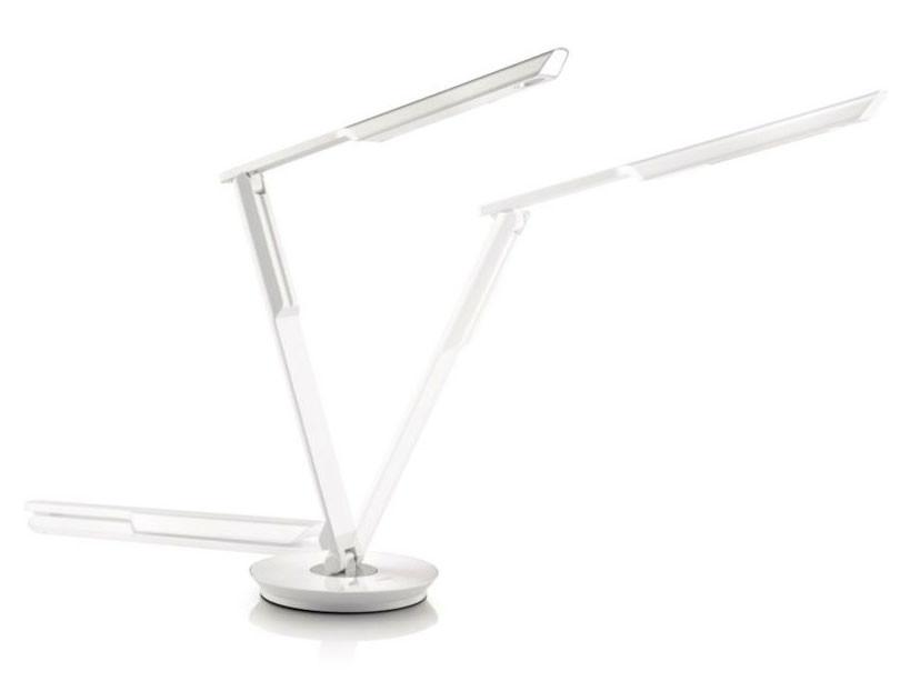 Lampe de bureau led avec variateur et usb philips mallet pearl