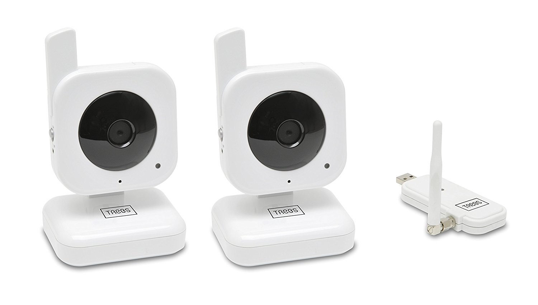 pack de cam ras de surveillance sans fil trebs comfortcam 99501. Black Bedroom Furniture Sets. Home Design Ideas