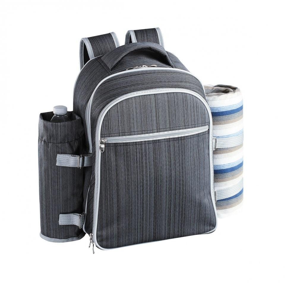 sac dos sp cial picnic avec poche isotherme pour 4. Black Bedroom Furniture Sets. Home Design Ideas