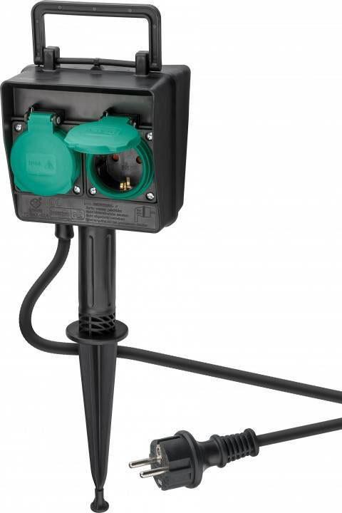 3-fach Bloc Multiprises Extérieur Lampe Extérieure Prise Jardin Multiprises IP44