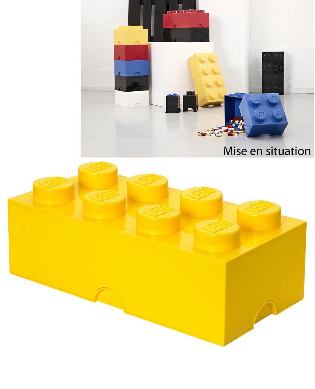 Brique de rangement LEGO grand modèle 8 Plots (12 L) 3 couleurs | Pearl.fr