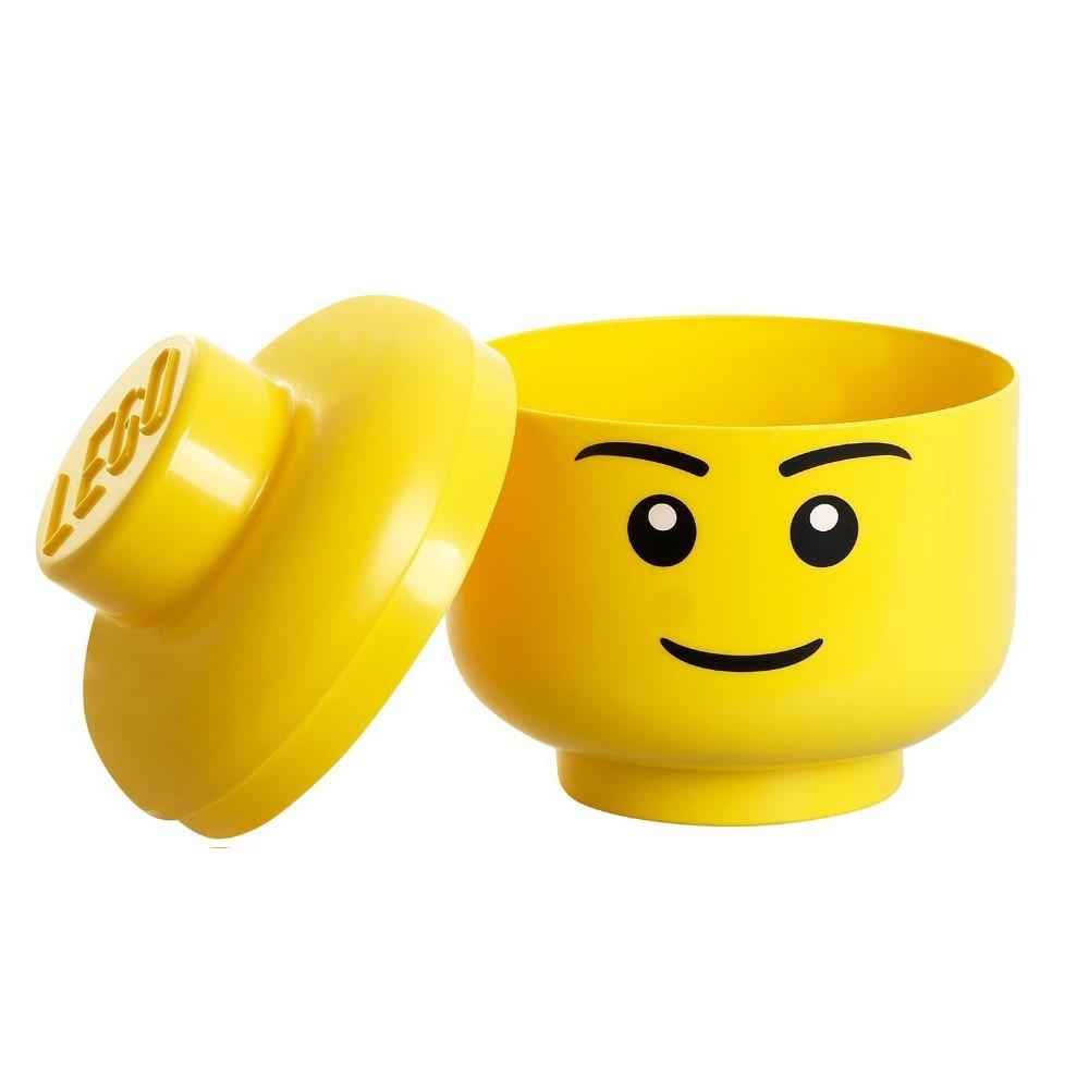 Tête de rangement LEGO garçon L   Pearl.fr