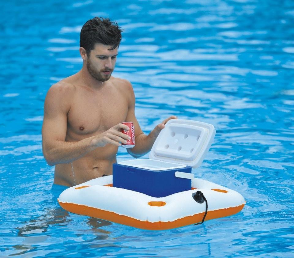 Bar flottant gonflable 5 compartiments pour piscine for Article pour piscine