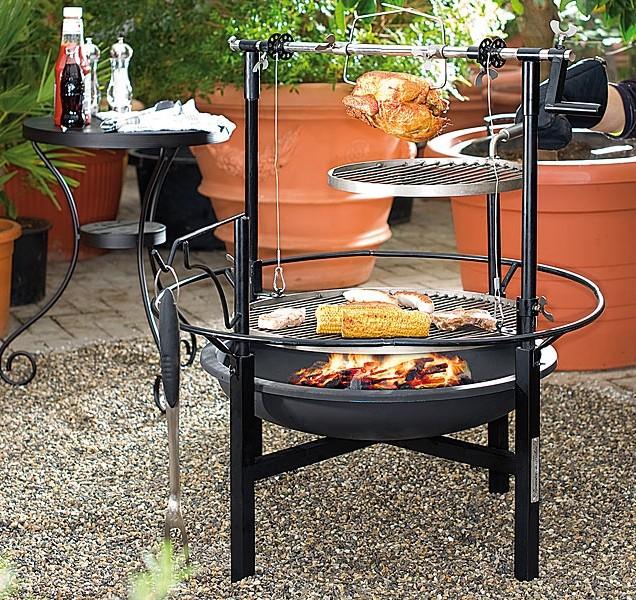 Achat barbecue charbon m gagrill 2 niveaux et tourne broche - Barbecue tourne broche ...