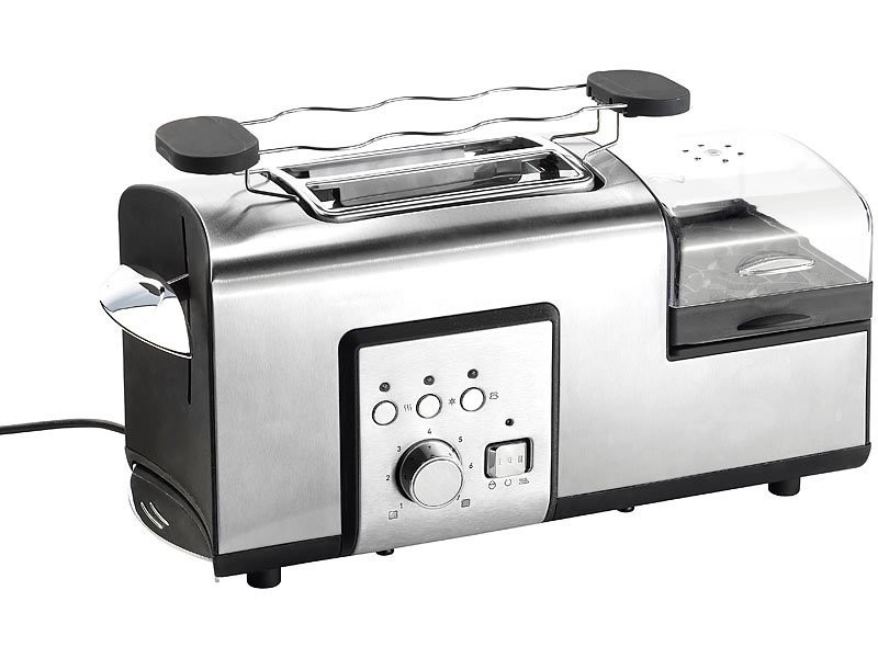 Grille-pain transparent 500 w pour 4 tranches et pains ronds ...