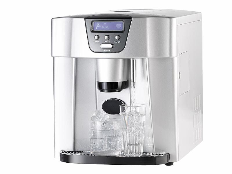 machine à glaçons automatique avec fontaine à eau fraîche | pearl.fr