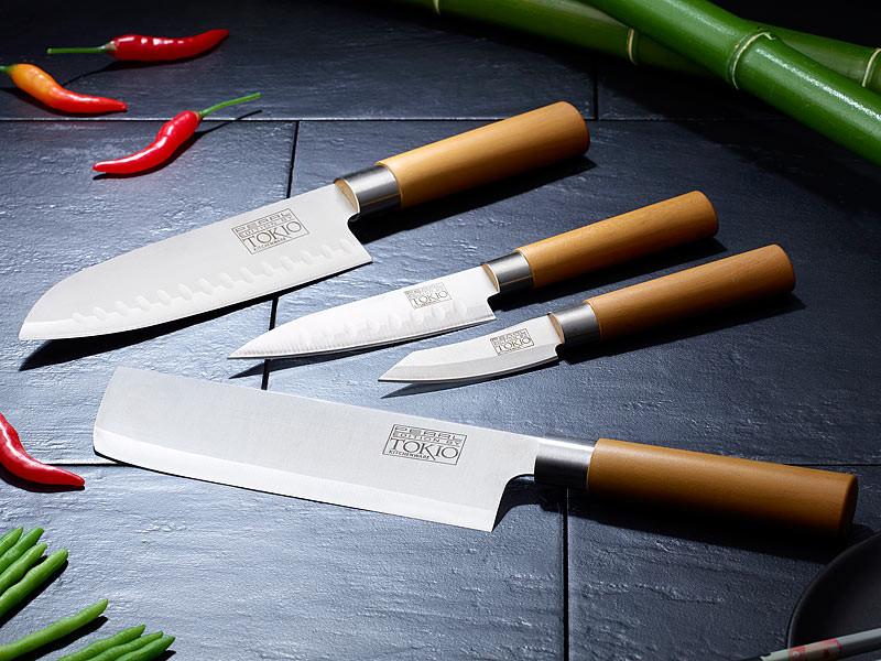 couteaux de cuisine pro en inox pas cher avec santoku et nakiri. Black Bedroom Furniture Sets. Home Design Ideas