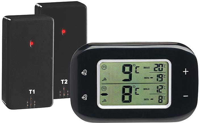 thermom tre digital sans fil pour r frig rateur et cong lateur avec 2 capteurs. Black Bedroom Furniture Sets. Home Design Ideas