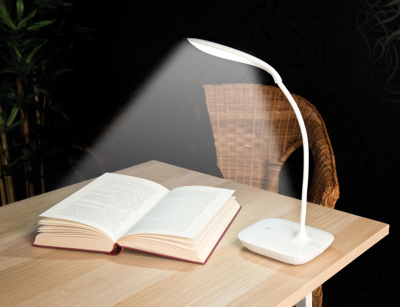Lampe de bureau design et tactile avec variateur lunartec pearl.fr