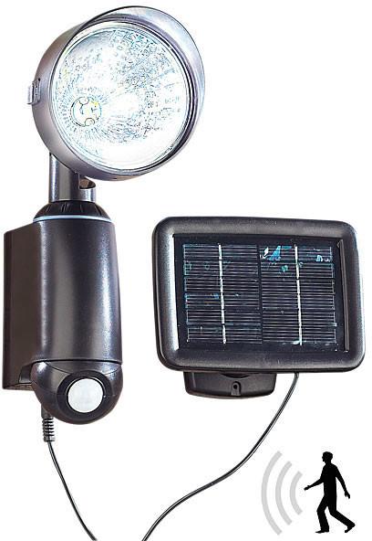 Lampe solaire murale avec d tecteur pir et plaque amovible for Applique murale solaire exterieur avec detecteur
