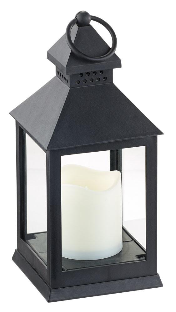 lanterne avec bougie led sans flamme effet vacillant. Black Bedroom Furniture Sets. Home Design Ideas