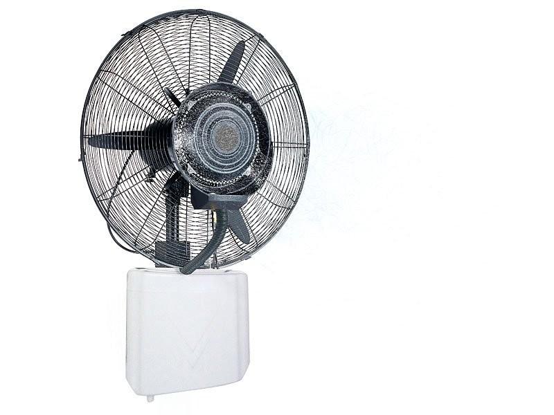 Ventilateur mural avec vaporisateur pour int rieur et for Ventilateur exterieur