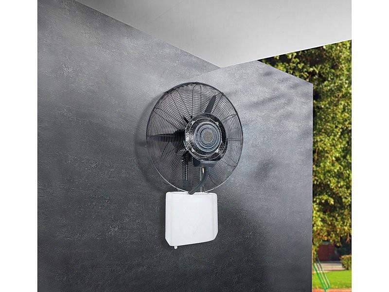 ventilateur mural avec vaporisateur pour int rieur et