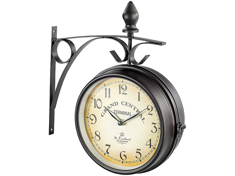 acheter horloge de gare r tro double face moins cher. Black Bedroom Furniture Sets. Home Design Ideas