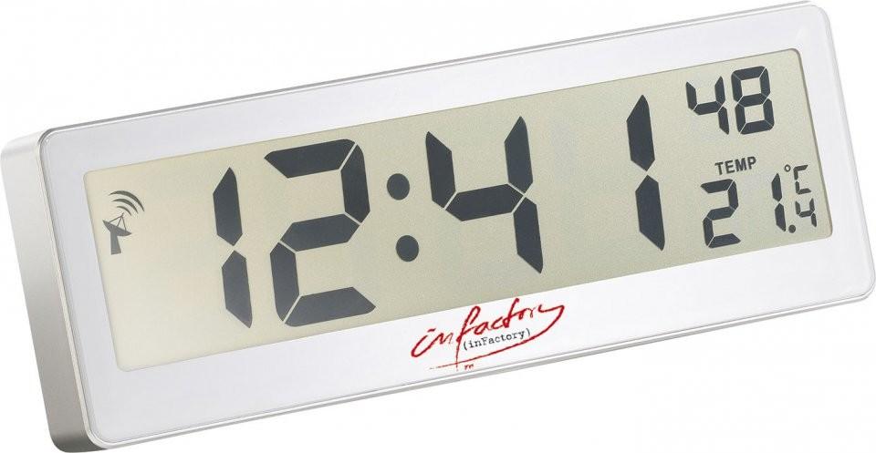 zoom - Horloge Digitale Murale Salle De Bain
