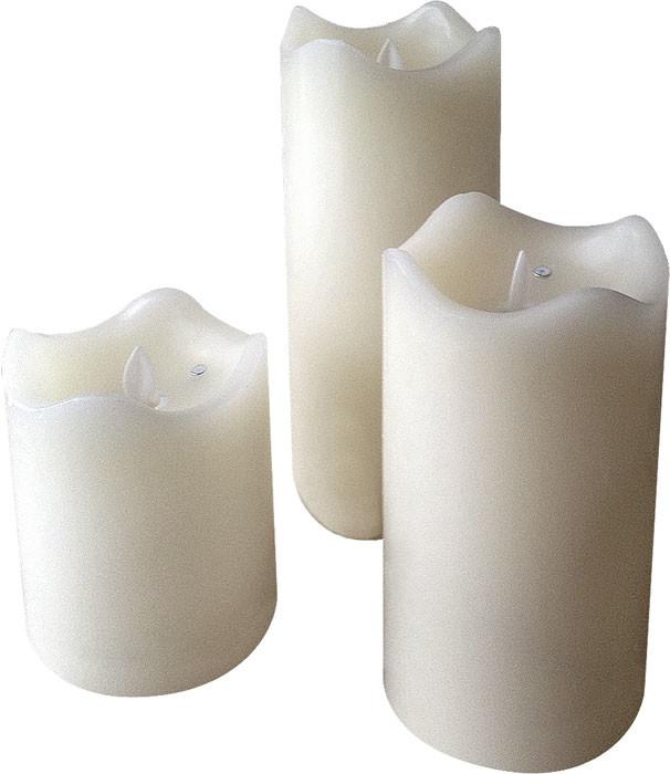 acheter bougies en cire led avec flamme vacillante pas cher. Black Bedroom Furniture Sets. Home Design Ideas