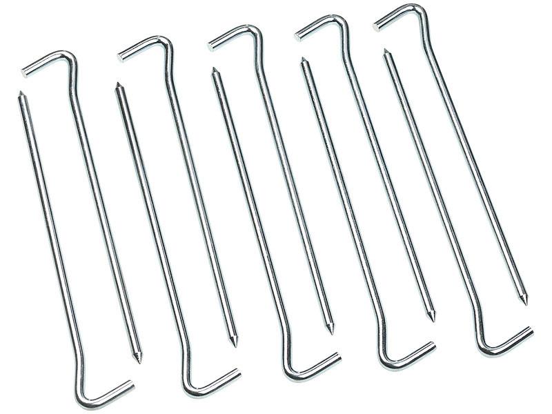Piquets de tente solides en acier galvanis/é 23/cm de long/ /4,5/mm de large
