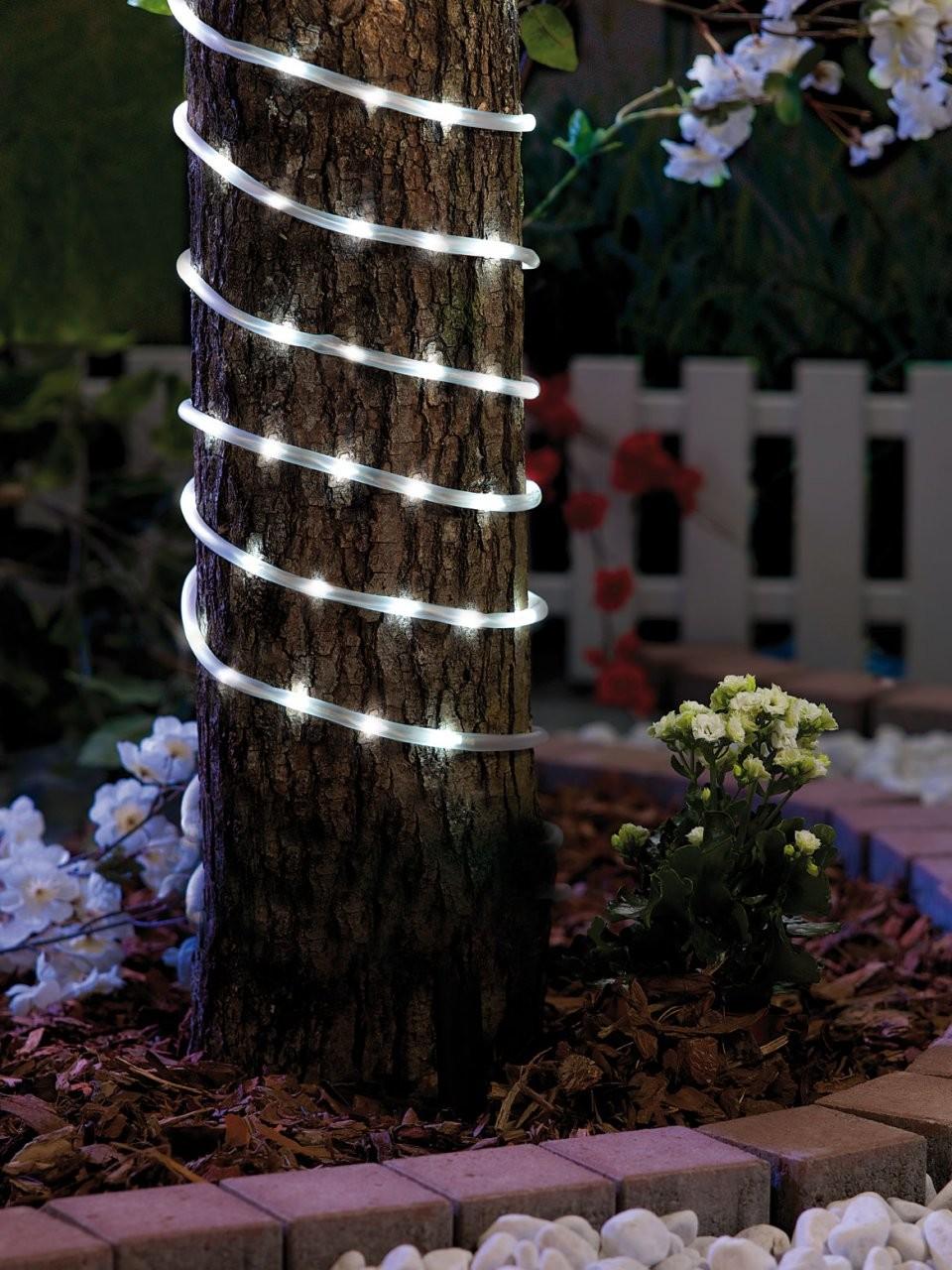 Guirlande tube souple led tanche pour jardin 20m for Guirlande jardin led