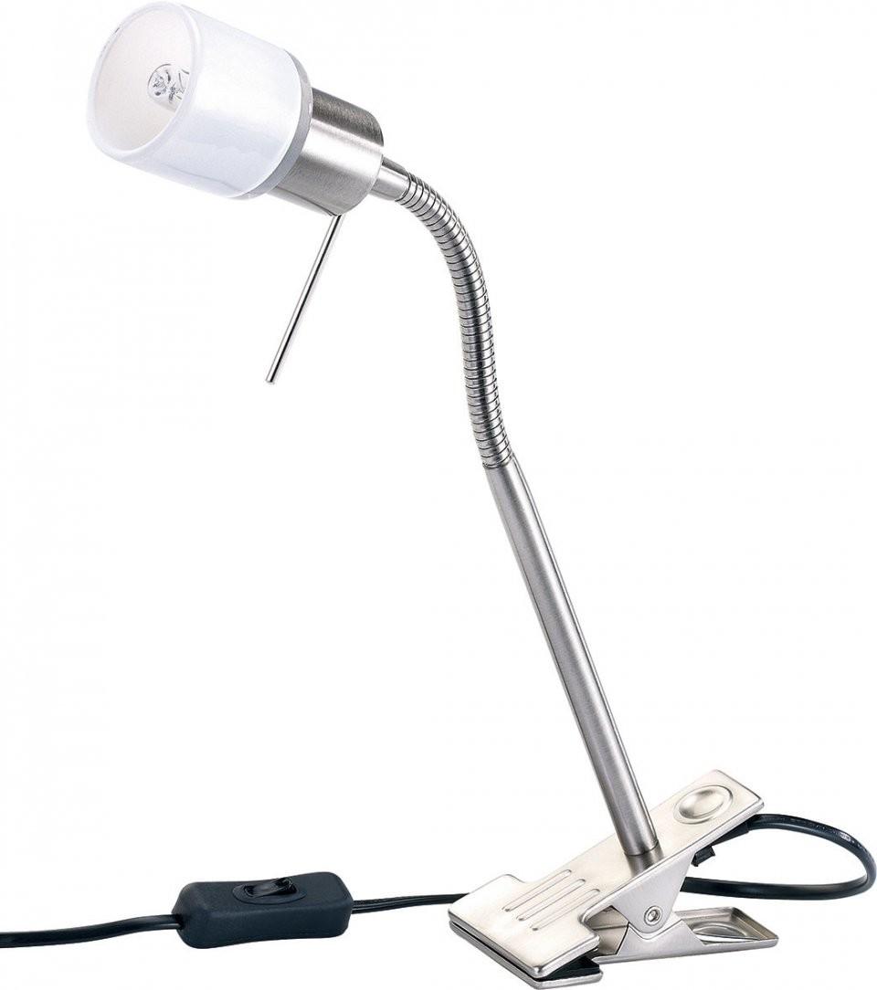 Lampe pince pour bureau avec col de cygne et culot g9 for Lampe de bureau a pince