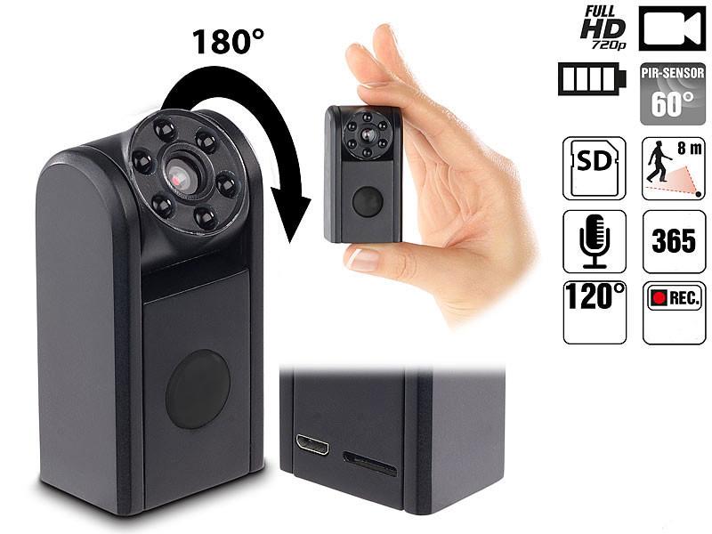 mini cam ra furtive avec d tecteur et vision nocturne raptor 7208 somikon. Black Bedroom Furniture Sets. Home Design Ideas