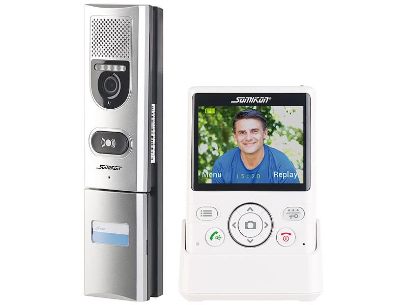 Visiophone sans fil 50m avec Vision nocturne et écran Couleur | Pearl.fr