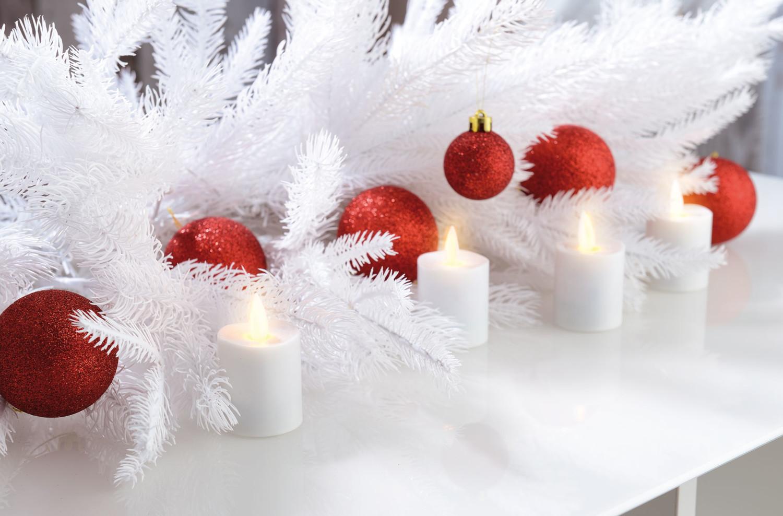 fausses bougies led avec flamme vacillante t l commande et batterie. Black Bedroom Furniture Sets. Home Design Ideas