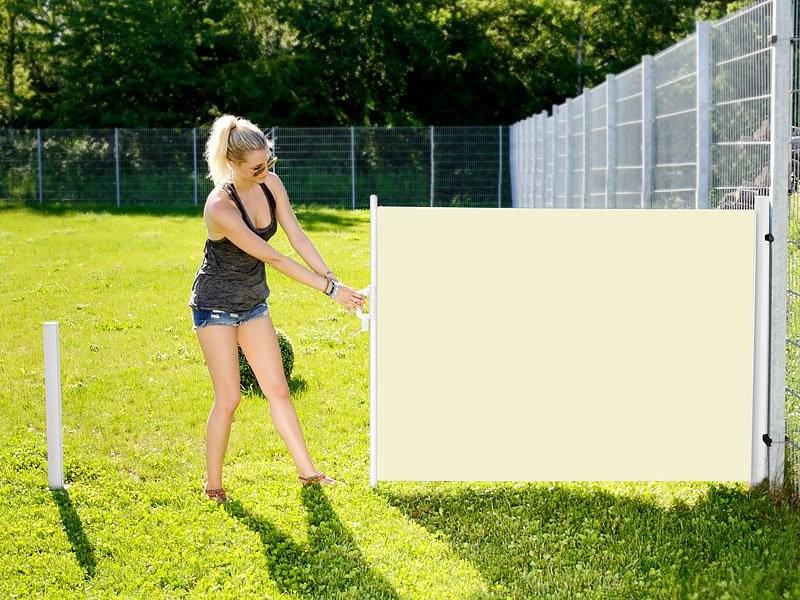 store pare vent d roulable pas cher 120 x 200 cm beige clair. Black Bedroom Furniture Sets. Home Design Ideas