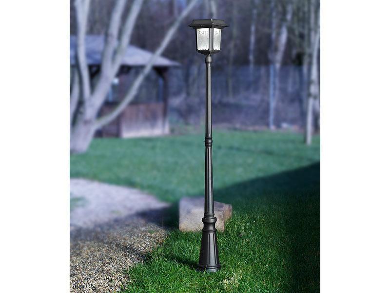 lampadaire de jardin solaire en inox avec ou sans pied. Black Bedroom Furniture Sets. Home Design Ideas