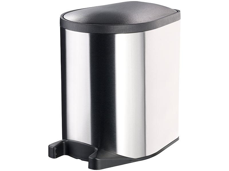 Poubelle ouverture automatique avec capteur au pied 10 for Habitat poubelle cuisine