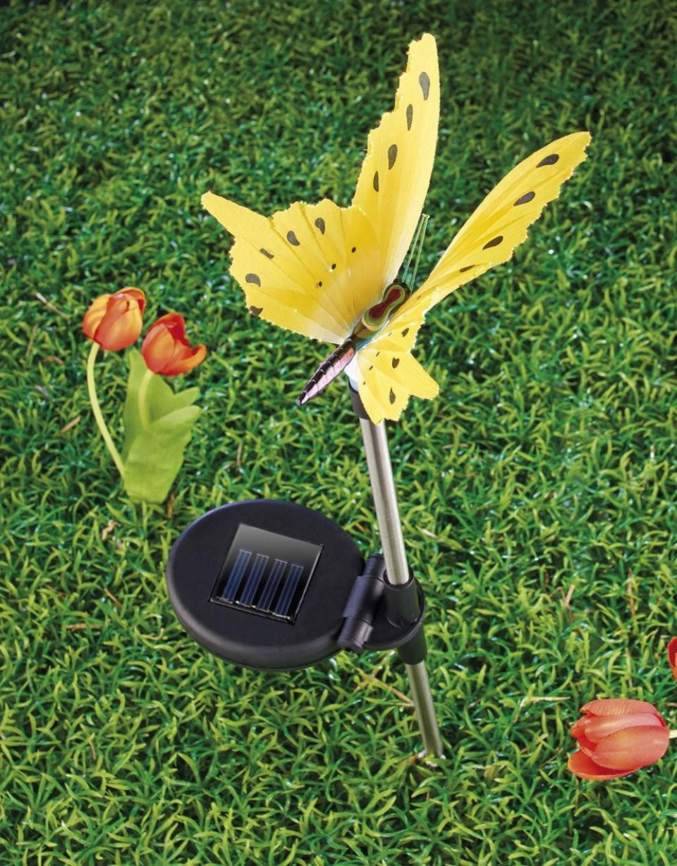 Papillon lumineux solaire pour d coration de jardin et for Deco jardin solaire