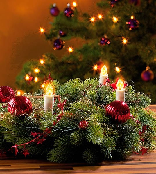 Sapin de Noel guirlande pour sapin de noel : Guirlande de 20 bougies à led pas chère pour sapin de noël | Pearl.fr