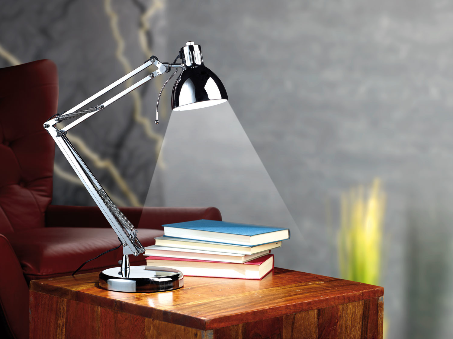 lampe de bureau articul e avec led int gr e design retro. Black Bedroom Furniture Sets. Home Design Ideas