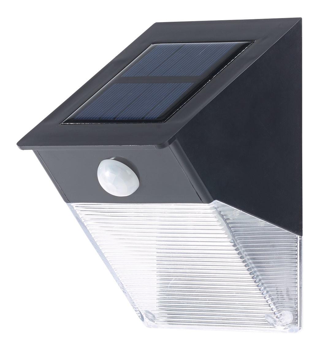 lampe murale solaire led 6w pour jardin avec d tecteur. Black Bedroom Furniture Sets. Home Design Ideas