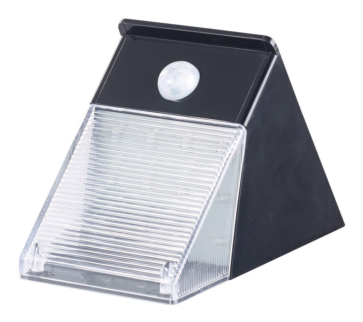 Lampe murale solaire à led 6w pour jardin avec détecteur pir