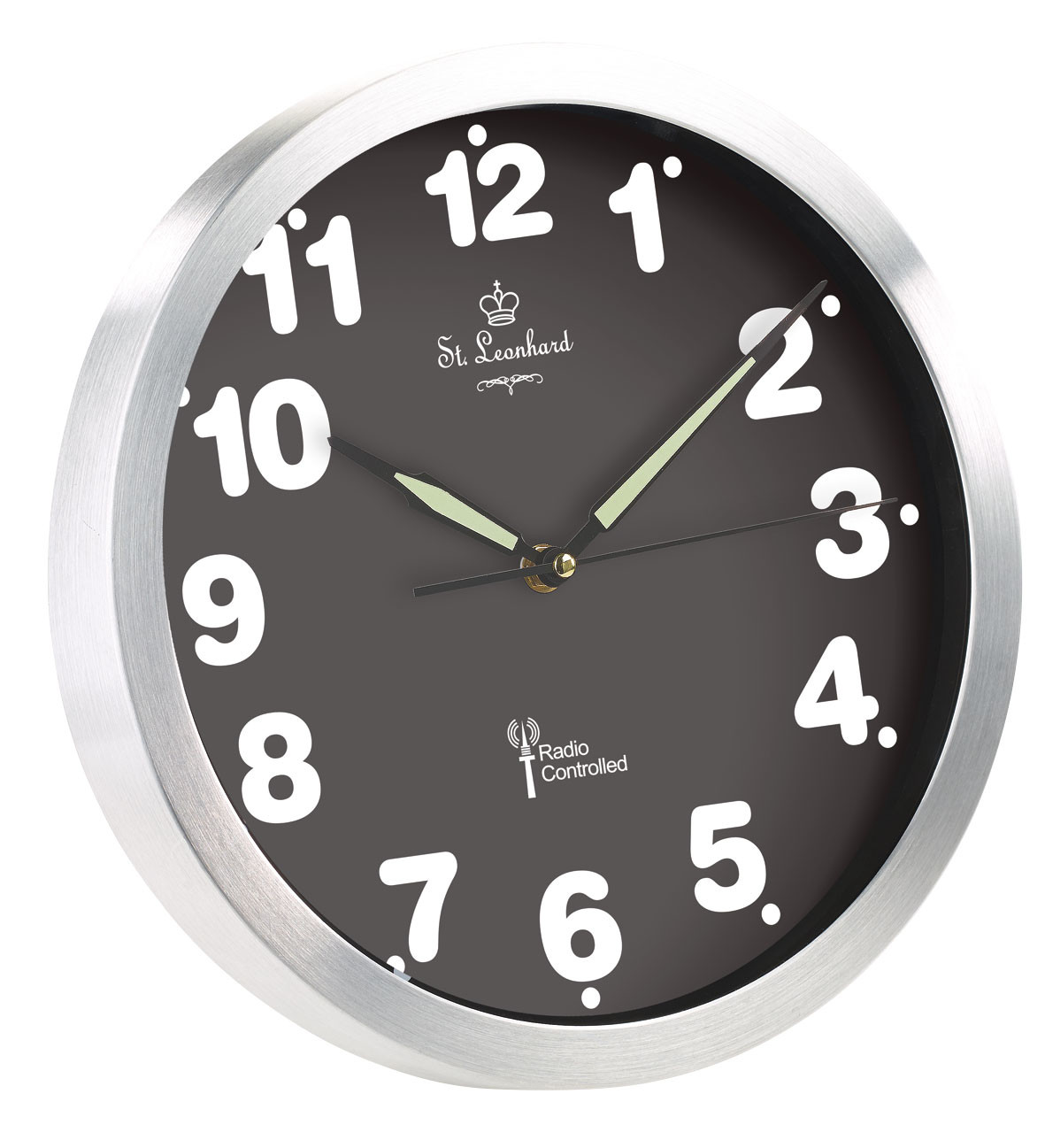 horloge murale radio pilot e quartz avec chiffres lumineux. Black Bedroom Furniture Sets. Home Design Ideas