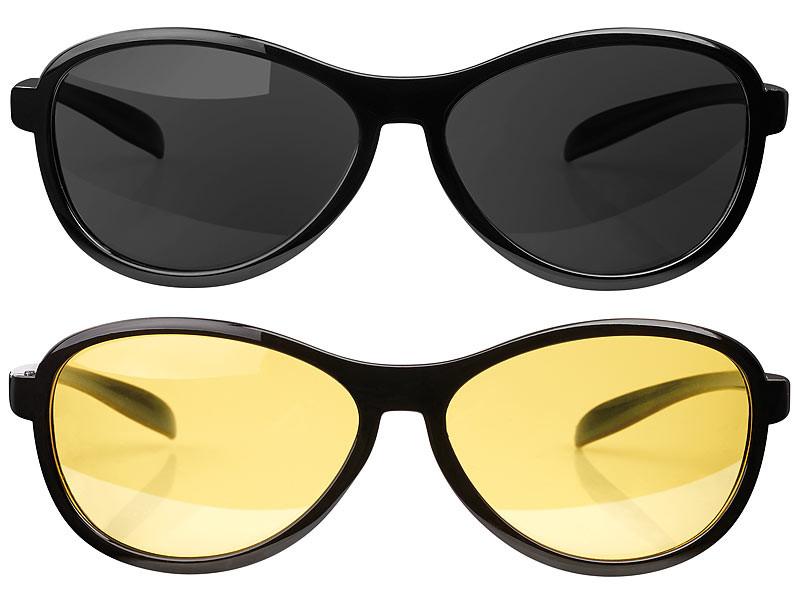 Pack de lunettes de conduite de nuit + de jour YkGge