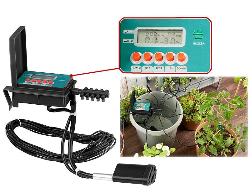 syst me d 39 irrigation automatique pour 1 10 pots avec. Black Bedroom Furniture Sets. Home Design Ideas