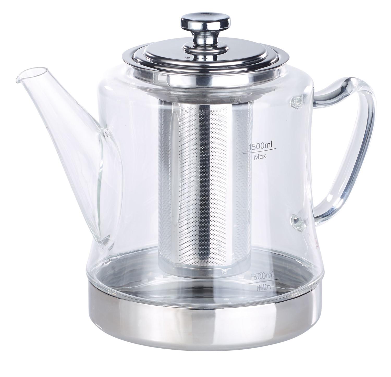 Bouilloire Isotherme concernant théière-bouilloire 1,5 l avec passe-thé en acier inoxydable | pearl.fr