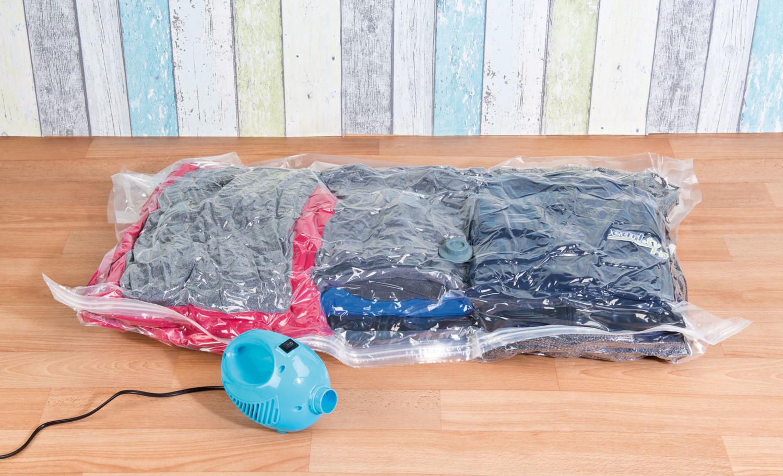 appareil lectrique de mise sous vide pour sac v tements toutes tailles. Black Bedroom Furniture Sets. Home Design Ideas