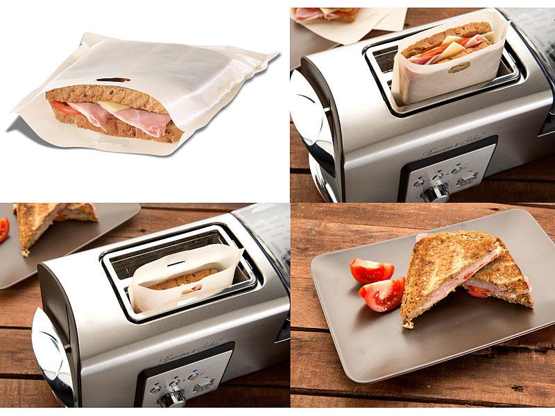 Sachets de cuisson sp cial croque monsieur pour grille pain - Sachet cuisson croque monsieur grille pain ...