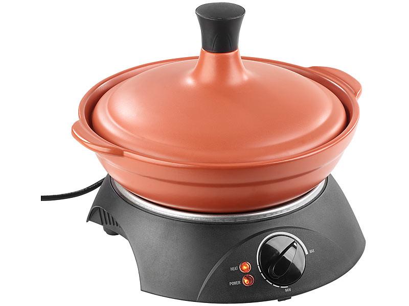 Tajine en terre cuite 2l avec r chaud lectrique 300w pas - Tajine en terre cuite ...