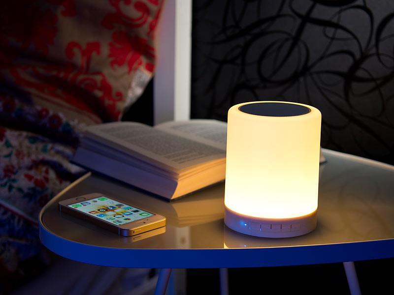 lampe led d 39 ambiance rgb avec enceinte bluetooth int gr e auvisio. Black Bedroom Furniture Sets. Home Design Ideas