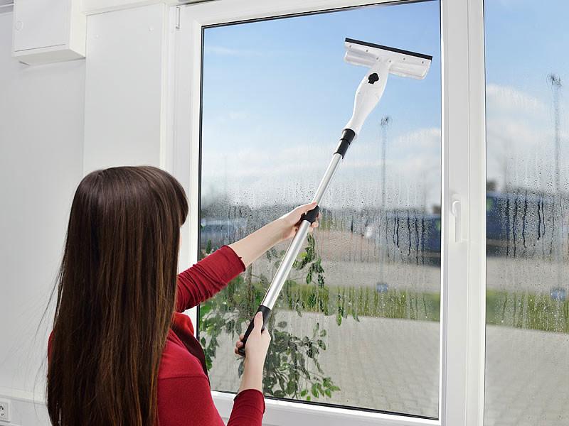 nettoyeur de vitres avec aspirateur gouttes et manche 120 cm. Black Bedroom Furniture Sets. Home Design Ideas