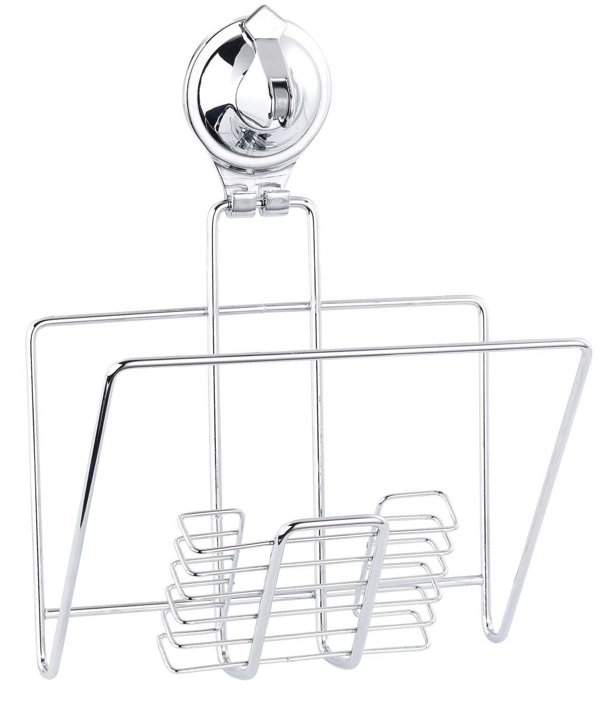 Accessoires salle de bains en acier inoxydable avec for Accessoire salle de bain ventouse
