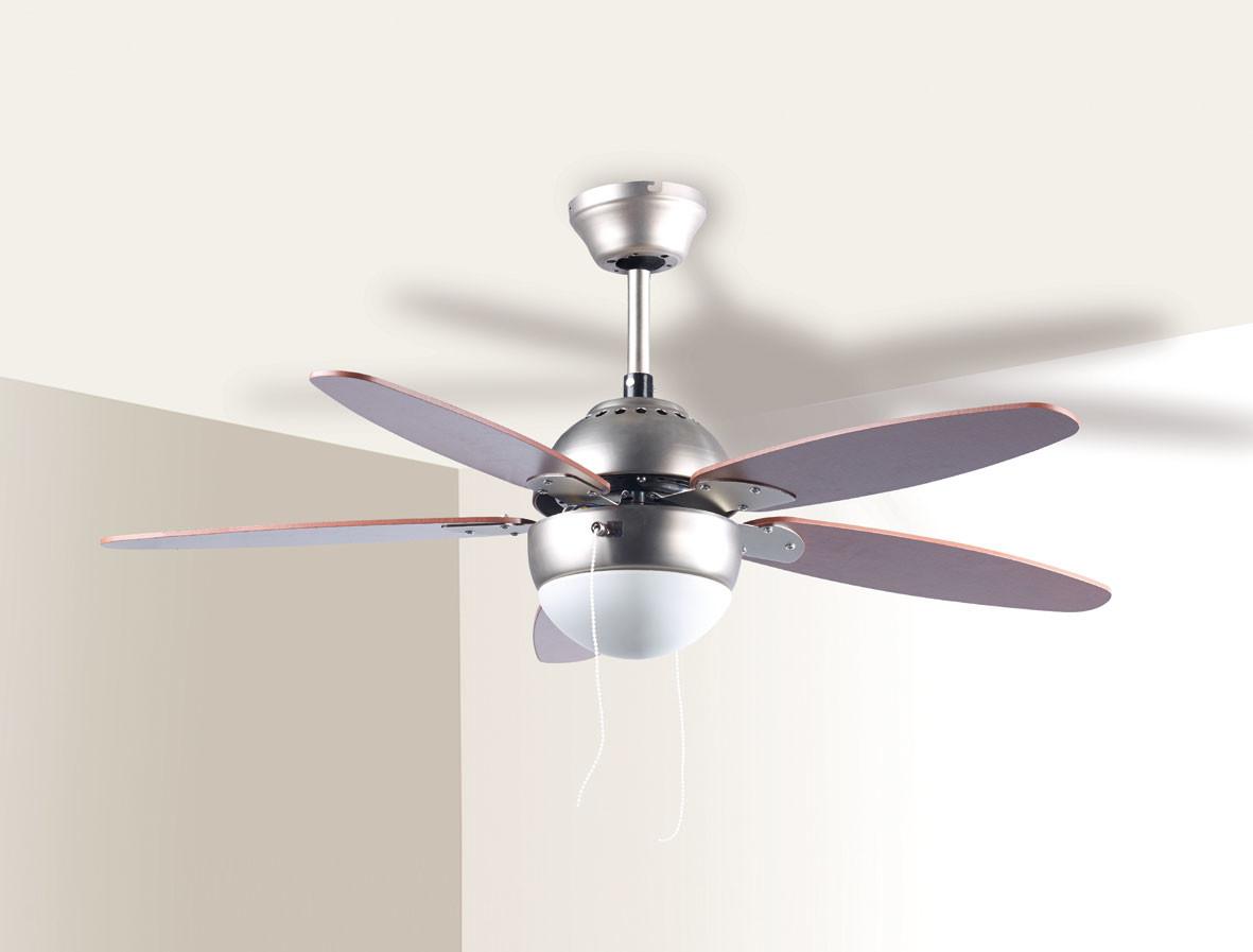 Ventilateur de plafond Rétro en bois et métal avec