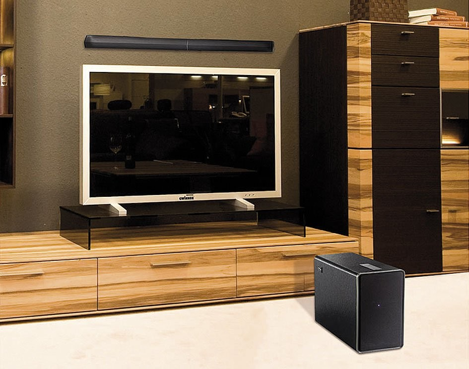 barre de son subwoofer 2 1 pas cher avec bluetooth et usb auvisio. Black Bedroom Furniture Sets. Home Design Ideas