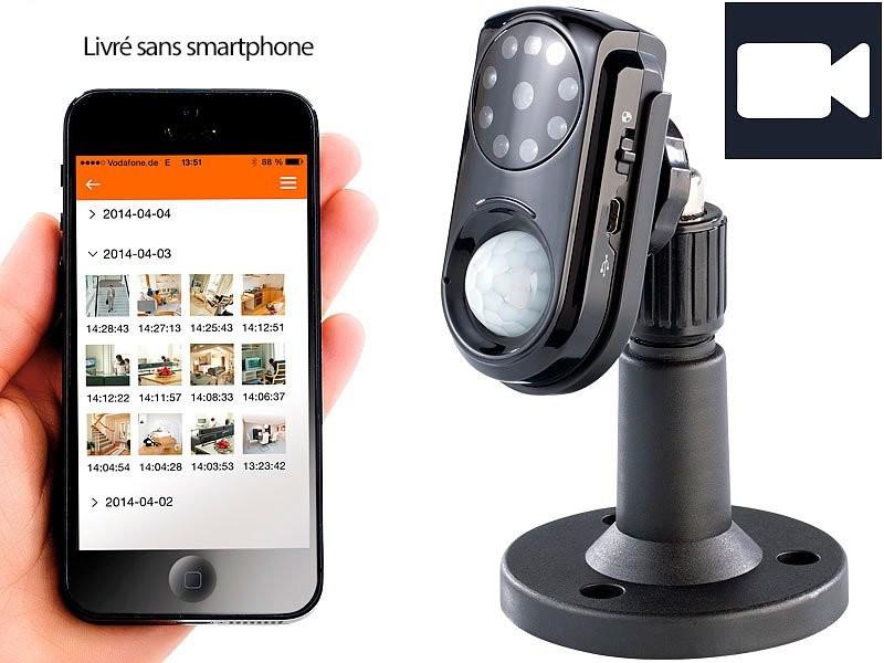 cam ra de surveillance avec capteur pir vision nocturne et micro visortech. Black Bedroom Furniture Sets. Home Design Ideas