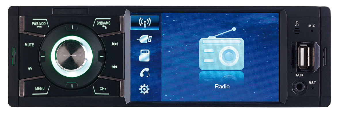 autoradio 4x45w avec usb microsd bluetooth et micro cas 3445 bt. Black Bedroom Furniture Sets. Home Design Ideas