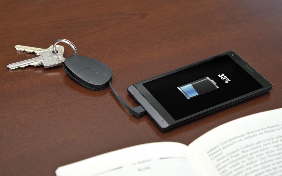 Mini Batterie De Secours 420mah Pour Porte Cl Avec C Ble Micro Usb